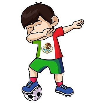 Dabbing Football Player Mexico World Cup 2018 - Russia 2018 by nuckybad