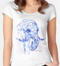 The elephant Women's Fitted Scoop T-Shirt