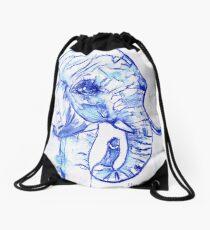 The elephant Drawstring Bag