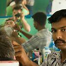 Maldives barber by Alex Evans