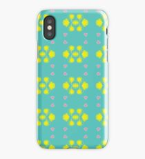 love drawings peaceful seamless colorful repeat pattern iPhone Case