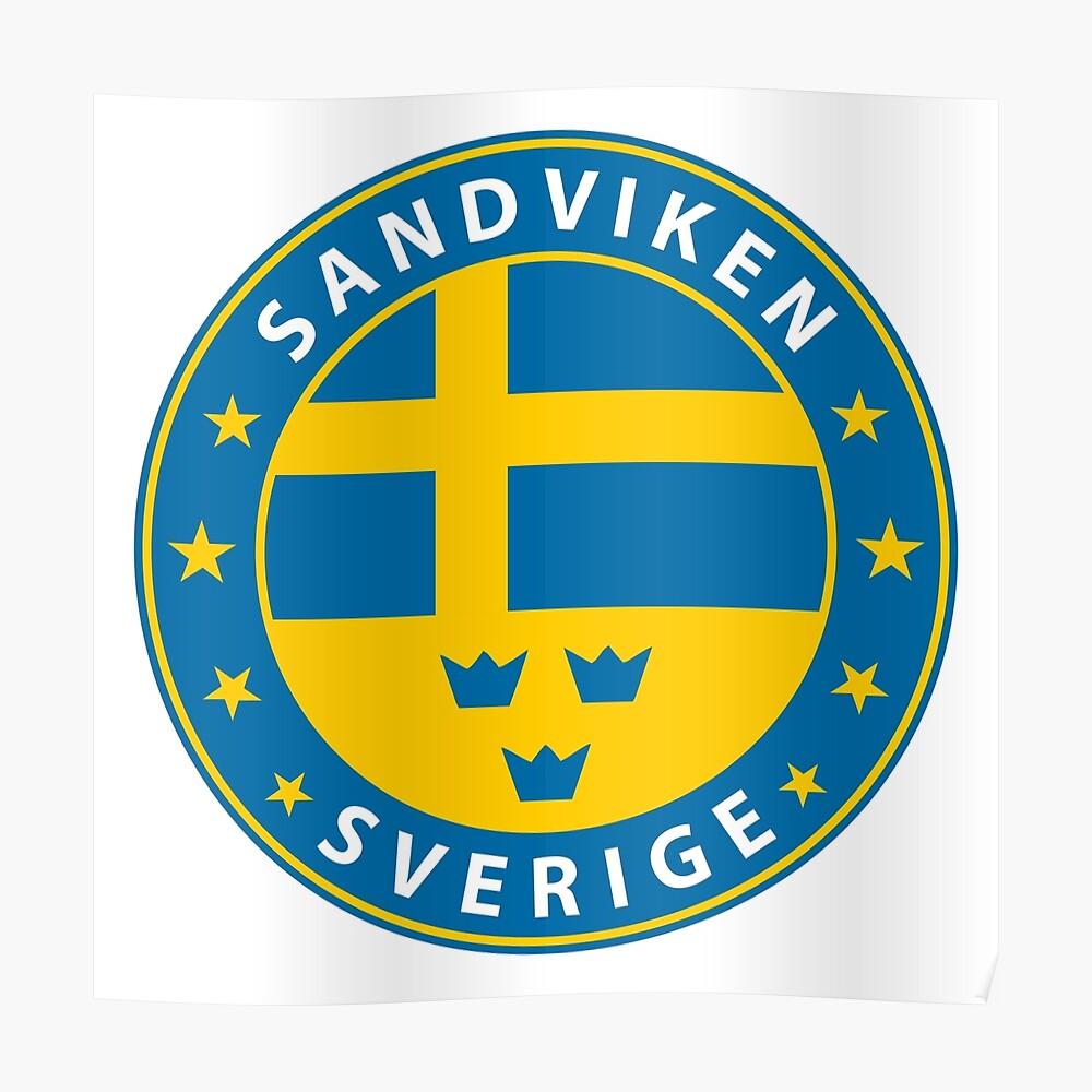 Sandviken, Sandviken Schweden, Sandviken Sverige, Sandviken Aufkleber, Stadt von Schweden Poster