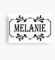 Frame Name Melanie Canvas Print