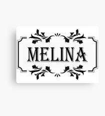 Frame Name Melina Canvas Print