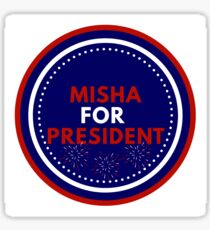 Misha Collins for President Sticker