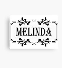 Frame Name Melinda Canvas Print
