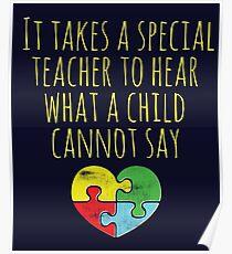 Autism Awareness Autistic Lehrer Special Education Teaching Poster