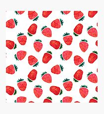 Very Strawberry - White Photographic Print