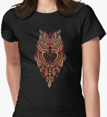 Owl. Women's Fitted T-Shirt
