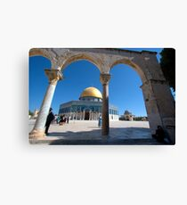 Israel, Jerusalem, Old City, Dome of the Rock Canvas Print