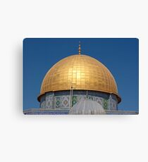 Jerusalem, Old City, Dome of the Rock with the smaller Dome of the Chain in the foreground  Canvas Print