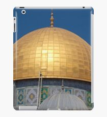 Jerusalem, Old City, Dome of the Rock with the smaller Dome of the Chain in the foreground  iPad Case/Skin