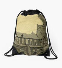 Fisheye of the Kwidzyn Castle Poland Drawstring Bag