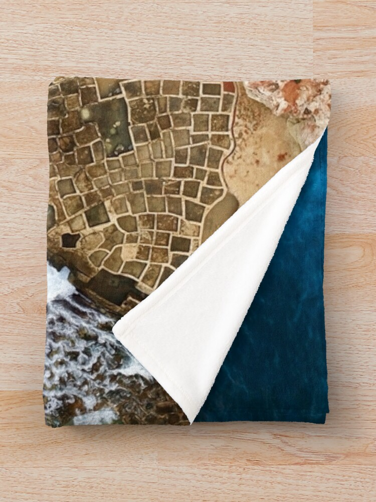 Alternate view of An aerial shot of the Salt Pans in Marsaskala Malta Throw Blanket