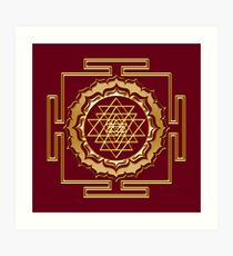 Shri Yantra - Cosmic Conductor of Energy Art Print