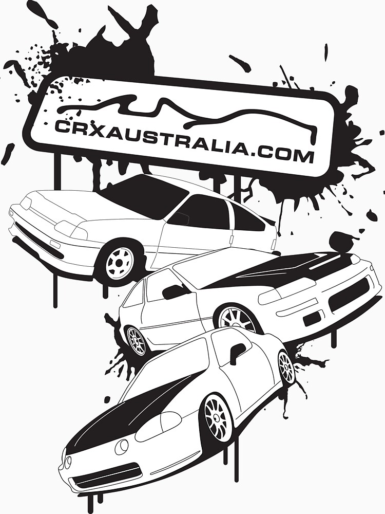 All Generations Of Crx Splat Design T Shirt By Crxaustralia