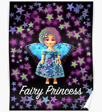 Fairy Princess Blue Doll Poster