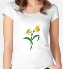 Daffodils! Women's Fitted Scoop T-Shirt