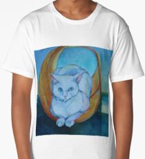 Tunnel vision - cat Long T-Shirt