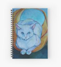 Tunnel vision - cat Spiral Notebook