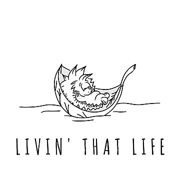 A Hedgehog Livin' that Life | Cute animal sketch | For Hedgehog Lovers | Animal Power | Gift for Women & Kids  by regedy1