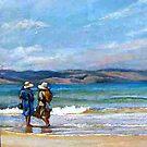 A Paddle - Apollo Bay by Lynda Robinson
