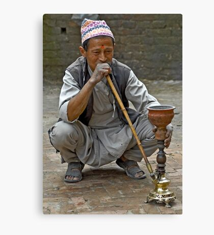 Smoking the hookah Canvas Print