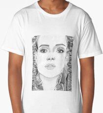 New York City Girl - black & white Long T-Shirt
