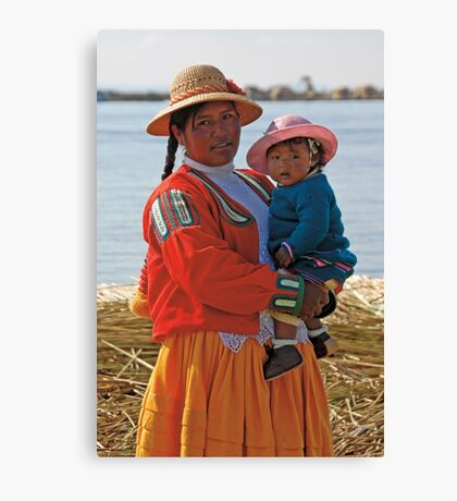 Uros people Canvas Print