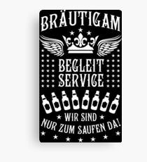 Groom accompanying service beer crown wing 87 Canvas Print