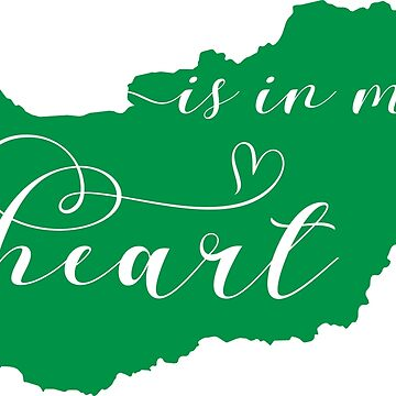 Hungary Is In My Heart Map Sticker by Celticana