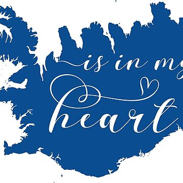 Iceland Is In My Heart Map Sticker by Celticana