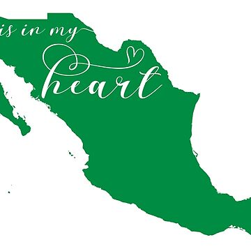 Mexico Is In My Heart Map Sticker by Celticana