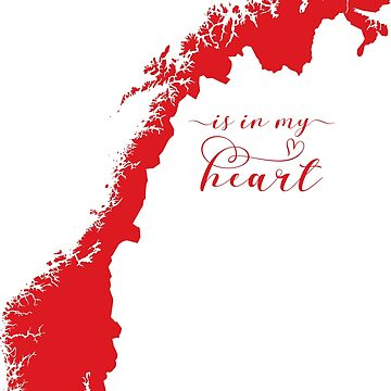 Norway Is In My Heart Map Sticker by Celticana