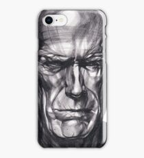 Clint Eastwood Drawing, 2013. Black Ink Pen on Paper. iPhone Case/Skin