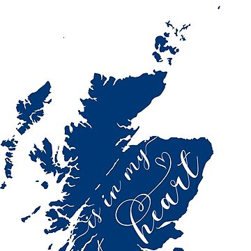 Scotland Is In My Heart Map Sticker by Celticana
