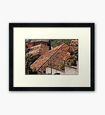 The Roof Tops Of Santa Lucia © Framed Print