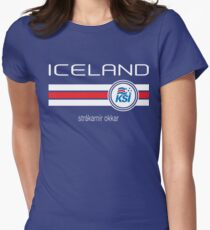 Football - Iceland (Home Blue) Women's Fitted T-Shirt