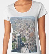 New York City, Manhattan, Brooklyn, New York, streets, buildings, skyscrapers, cars, pedestrians, #NewYorkCity, #Manhattan, #Brooklyn, #NewYork, #streets, #buildings, #skyscrapers, #cars, #pedestrians Women's Premium T-Shirt