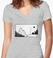 Small camp Women's Fitted V-Neck T-Shirt