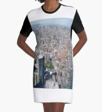 Aerial photography, New York City, Manhattan, Brooklyn, New York, streets, buildings, skyscrapers, #NewYorkCity, #Manhattan, #Brooklyn, #NewYork, #streets, #buildings, #skyscrapers, #cars Graphic T-Shirt Dress