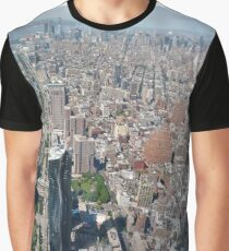Aerial photography, New York City, Manhattan, Brooklyn, New York, streets, buildings, skyscrapers, #NewYorkCity, #Manhattan, #Brooklyn, #NewYork, #streets, #buildings, #skyscrapers, #cars Graphic T-Shirt