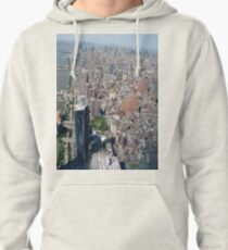 Aerial photography, New York City, Manhattan, Brooklyn, New York, streets, buildings, skyscrapers, #NewYorkCity, #Manhattan, #Brooklyn, #NewYork, #streets, #buildings, #skyscrapers, #cars Pullover Hoodie