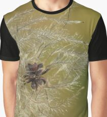 Natural Scenery Flowers Flying Graphic T-Shirt