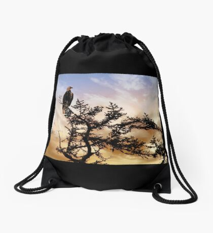 Eagle in Alaska Drawstring Bag