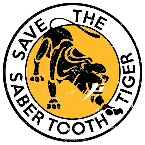 Saber Tooth Tiger SAVE WILDLIFE Conservation by IronEcho
