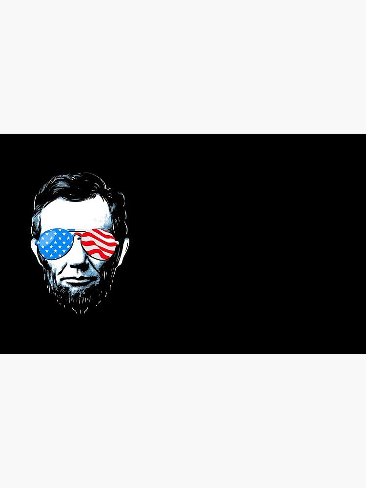 Abe Lincoln in Sonnenbrille für 4. Juli von BootsBoots