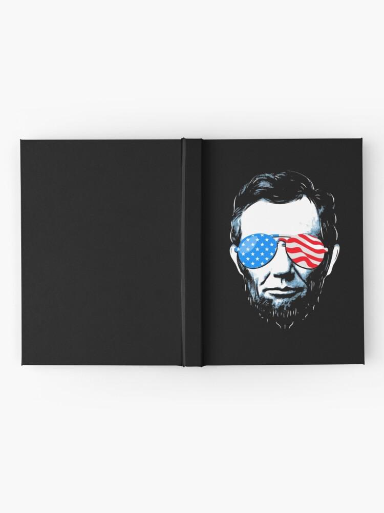 Alternative Ansicht von Abe Lincoln in Sonnenbrille für 4. Juli Notizbuch