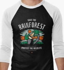 Save the Rainforest Protect the Wildlife Men's Baseball ¾ T-Shirt