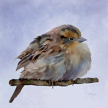Bird: Colourful Sparrow by bamalam-art